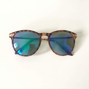 Blue-Green Cateye Sunglasses